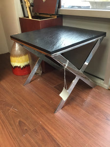 Black/Metal Side Table