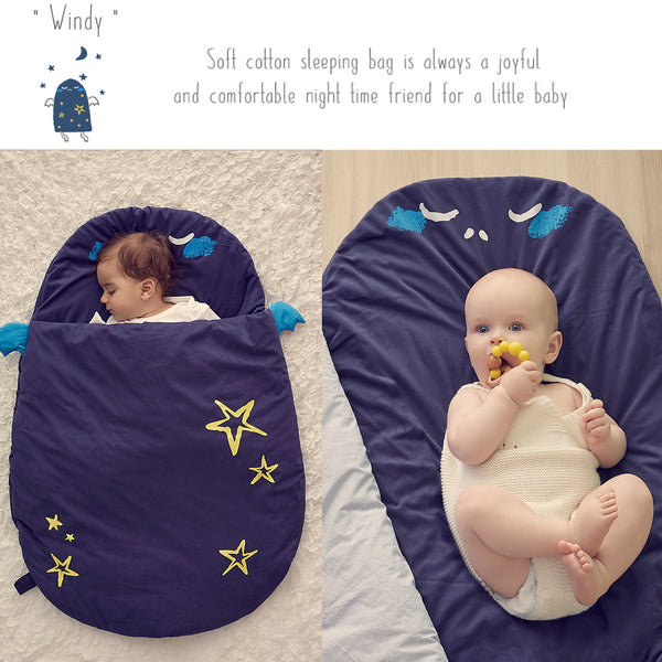 Bebamour Anti Kick Baby Sleeping Bag Safe Nights Cotton Baby Sleep Bag 2.5 Tog 0-18 Months Cute Infant Boy Girls Sleeping Sack Baby Wrap Blanket