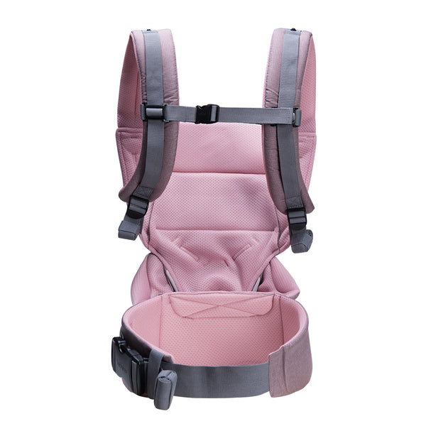 Bebamour Baby Carrier Sling 3 in 1 Ergonomic Baby Carrier Backpack for Newborn Breathable and Soft Baby Warp for Infant and Toddlers (Dusty Pink)
