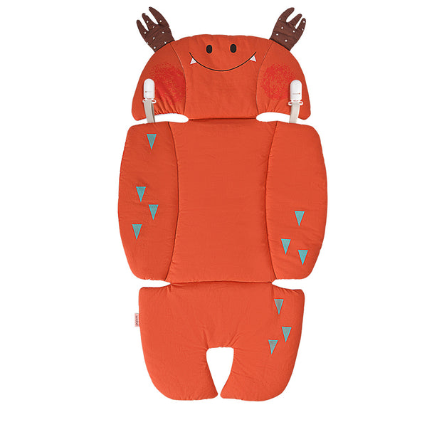 Bebamour Seat Liners Cute Shape Pushchair Seat Cushion for Baby Head & Neck Protection Pad for Stroller