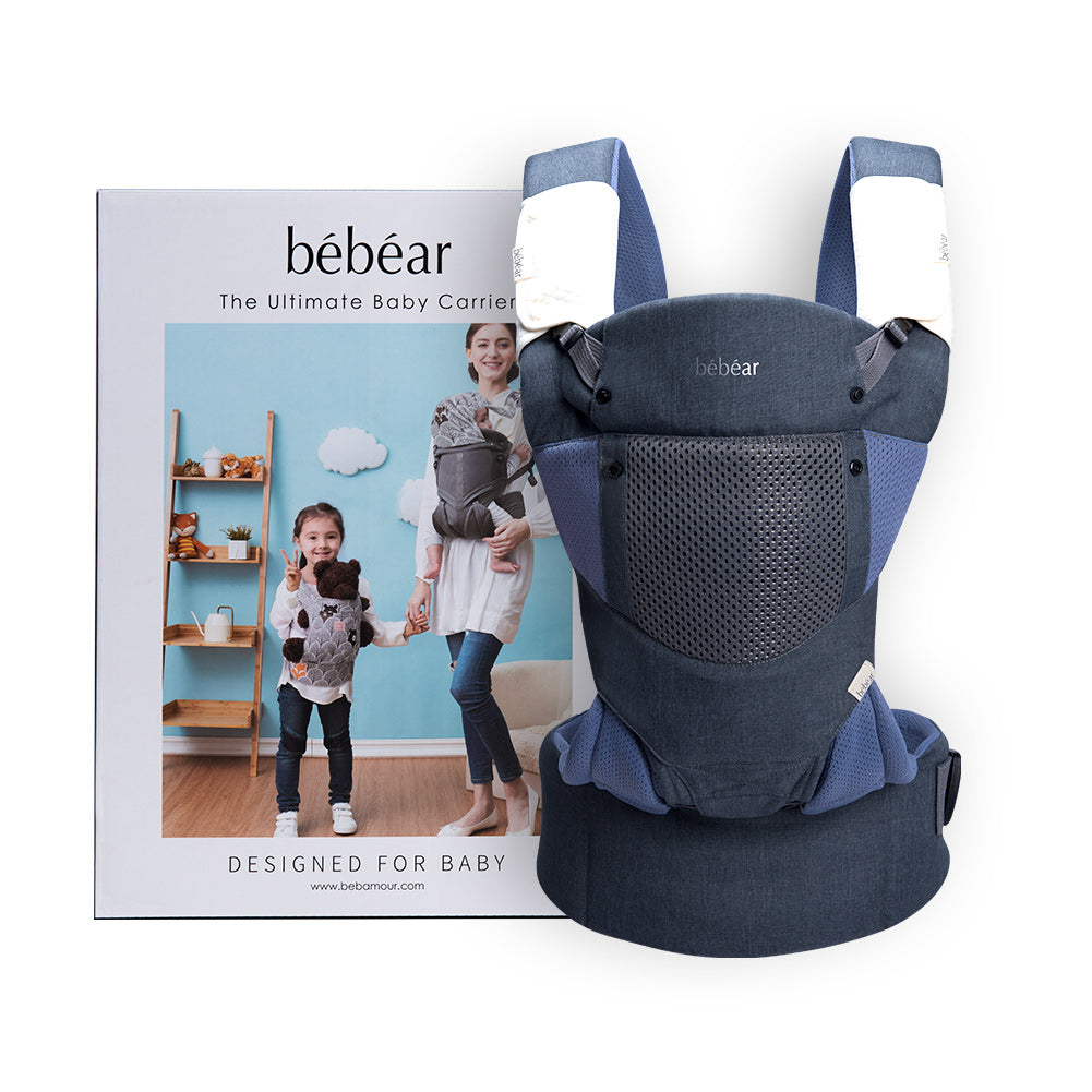 Bebamour Baby Carrier Sling 3 in 1 Ergonomic Baby Carrier Backpack for Newborn Breathable and Soft Baby Warp for Infant and Toddlers (Purple)