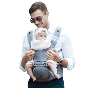 Bebamour Foldable Baby Carrier Hip Seat 6 in 1 Classical Desgined Baby Carrier Backpack 0-36months