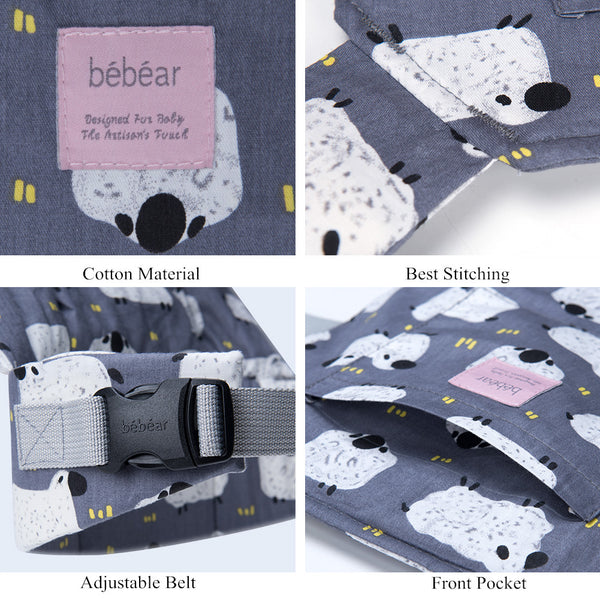 Bebamour Cotton Baby Doll Carriers for Girls Baby Doll Accessories Kids Toys Doll Carry Bag 3 in 1 Baby Doll Carrier Sling Baby Doll Carrier Doodles