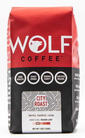 Wolf Coffee Organic City Roast 12 ounce bag