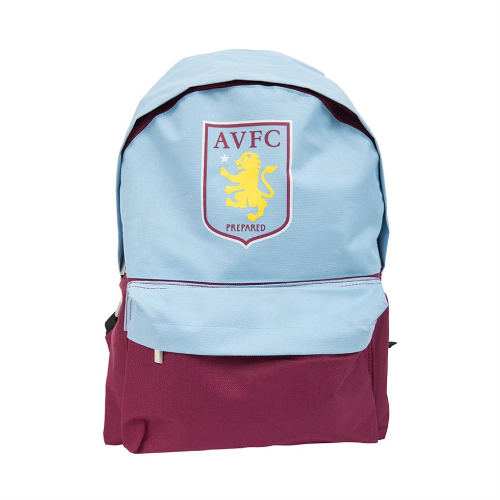 Aston Villa 2 Compartments Official Medium Backpack