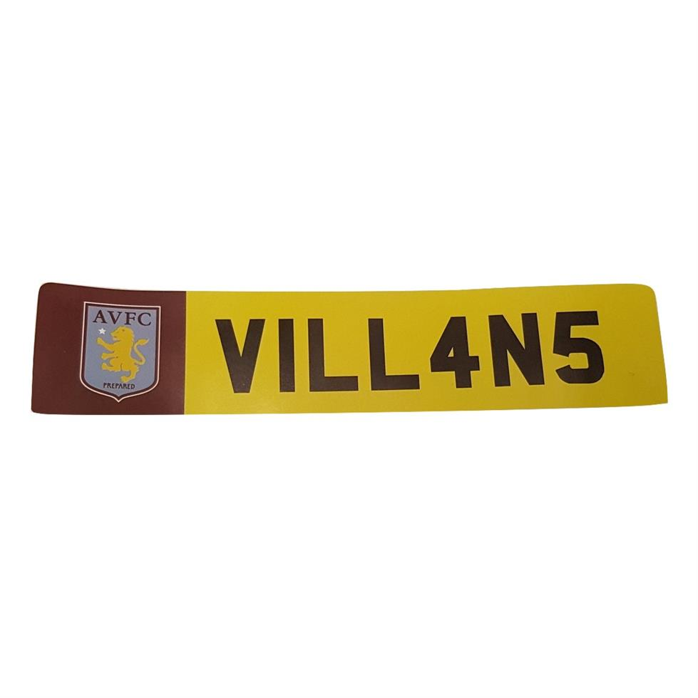 Aston Villa License Plate Window Sticker