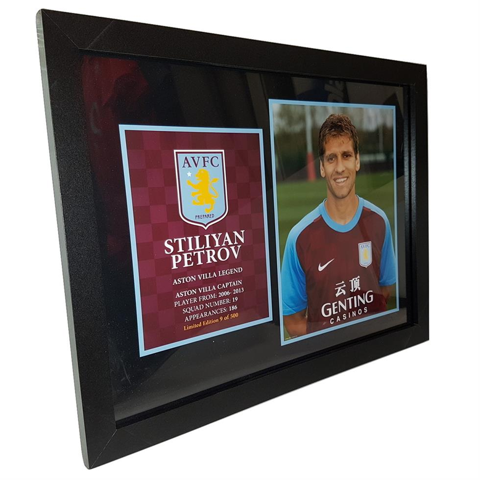 Aston Villa Official Framed Limited Edition Stiliyan Petrov Picture