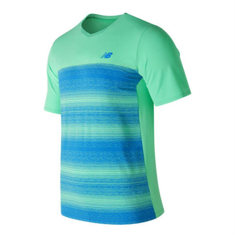 New Balance Mens Game Changer Crew-Neck Tennis T-Shirt