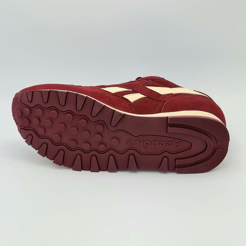 Reebok Classic Leather Ripple Nubuck Mens Trainers - Burgundy - UK 8