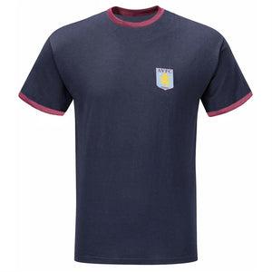 Aston Villa Mens Ringer Crew Neck T-Shirt