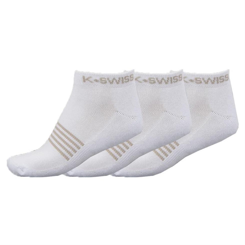 K-Swiss Womens All Court Tennis Ankle Socks (Pack of 3)