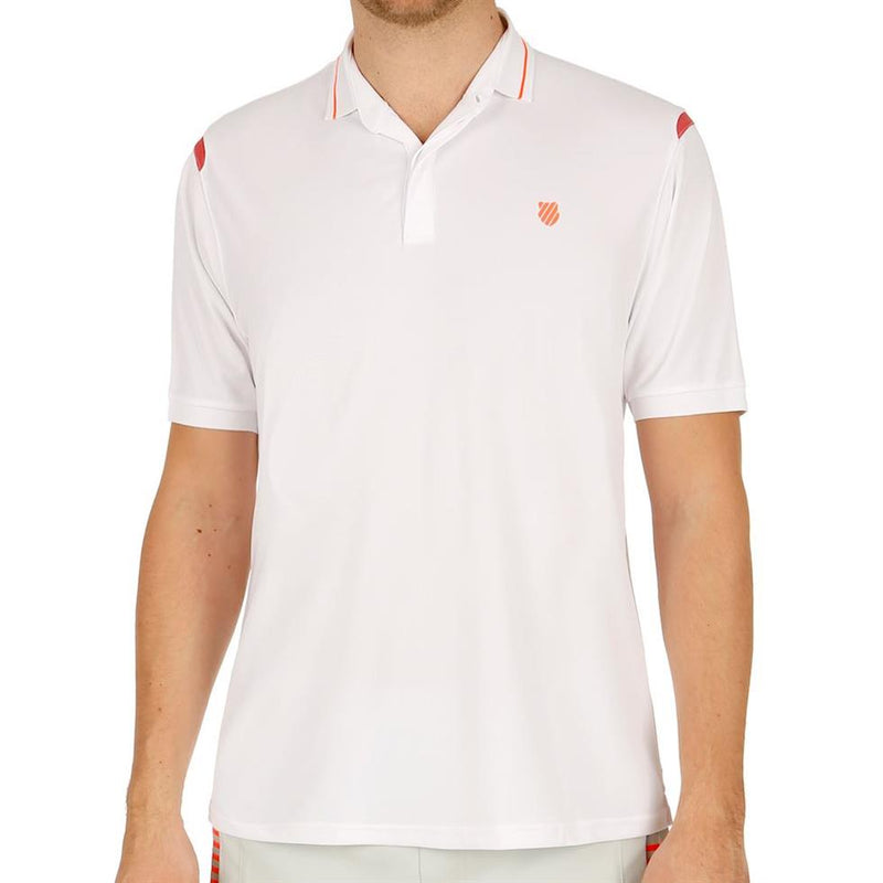 K-Swiss Mens Backcourt Tennis Polo Shirt