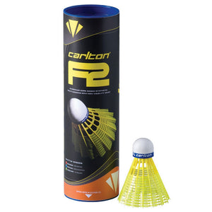 Carlton F2 Badminton Shuttlecocks (Pack of 6)