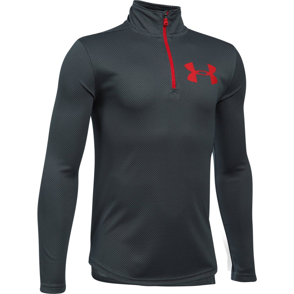 Under Armour Boys Tech Textured 1/4 Zip Training Top