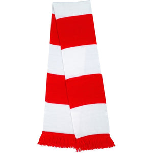 Retro Football Fan Supporters Knitted Striped Bar Scarf
