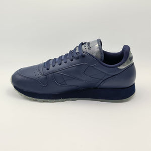 Reebok Classic Leather Mens Retro Trainers - Navy - UK 8