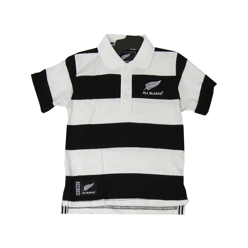 New Zealand All Blacks Junior Striped Jersey Polo