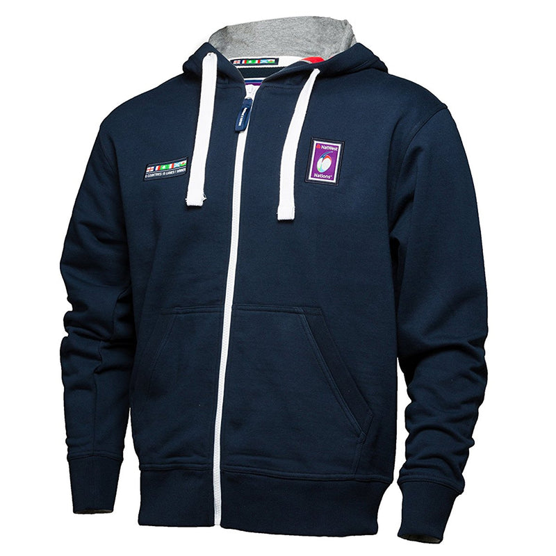 6 Nations Junior Full Zip Rugby Hoodie