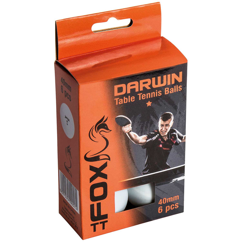 Fox Darwin 1 Star TT Balls (Pack of 6)