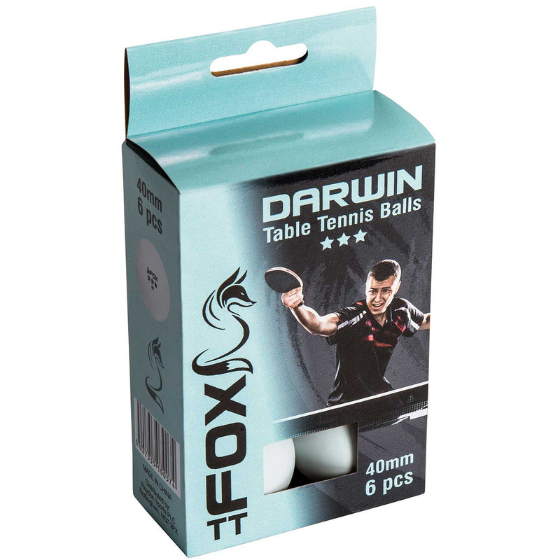 Fox Darwin 3 Star Table Tennis Balls Pack of 6