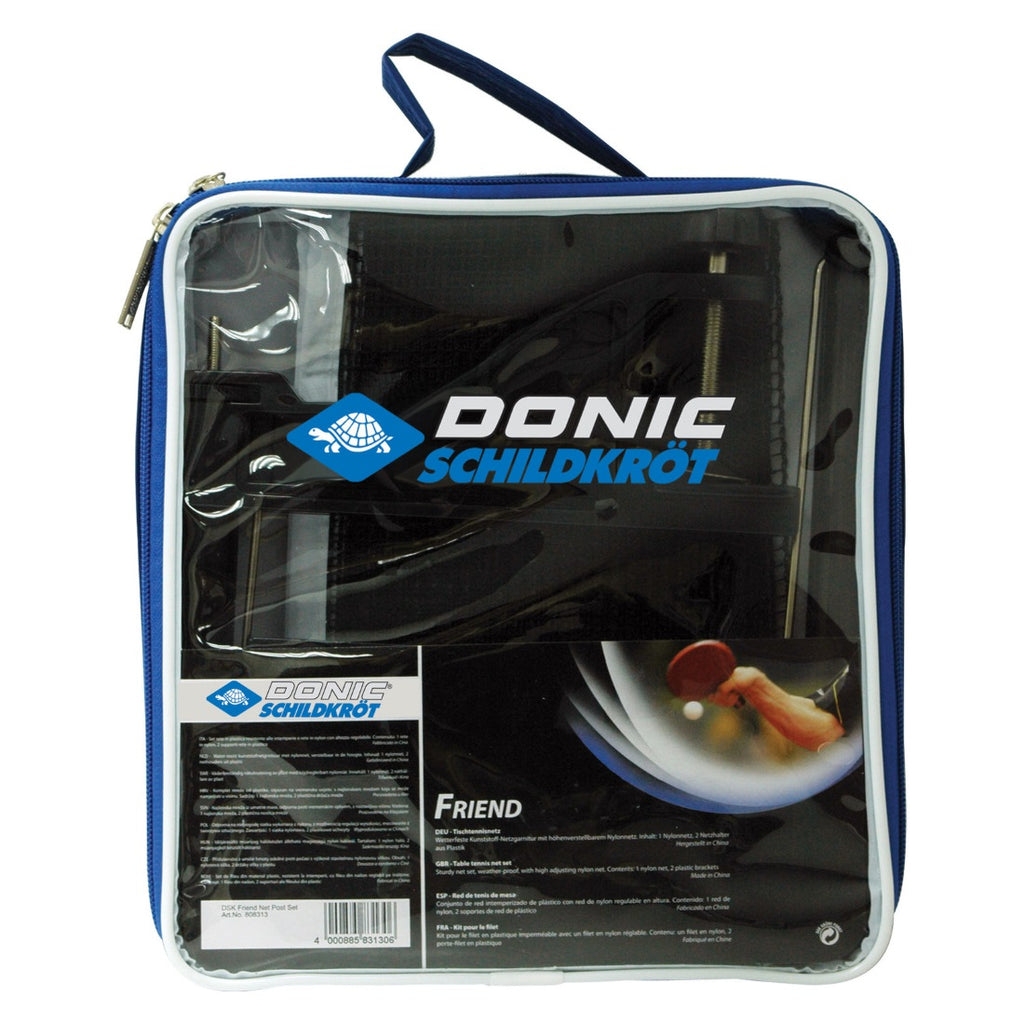 Donic Schildkrot Friend Weatherproof Table Tennis Net and Post Set