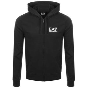 Emporio Armani EA7 Mens Classic Cotton Full-Zip Hooded Jacket 3ZPM59