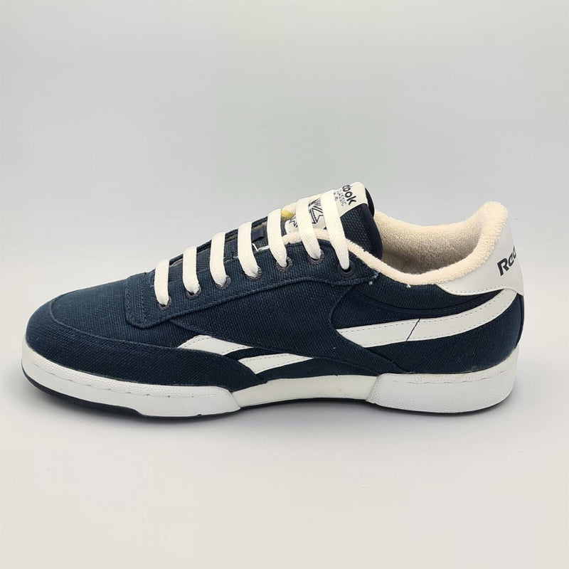Reebok Mens Classic Club Canvas Retro Trainers - Navy - UK 8