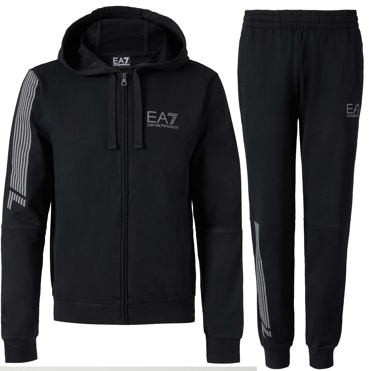 8114a6a815d99 Emporio Armani EA7 Mens Small Logo Cotton Hooded Tracksuit 3ZPV64