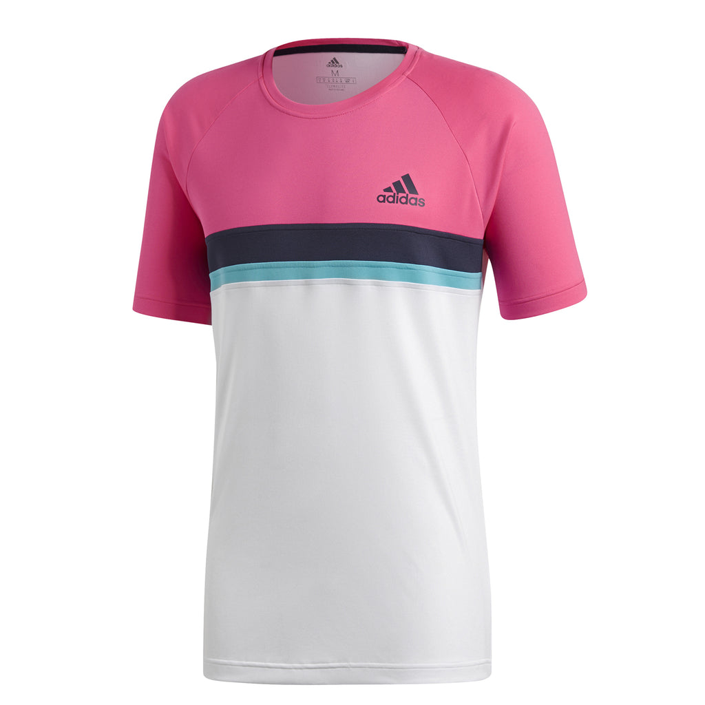 adidas Mens Club Colour Block Tennis T-Shirt