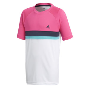 adidas Boys Club Colour Block Tennis T-Shirt