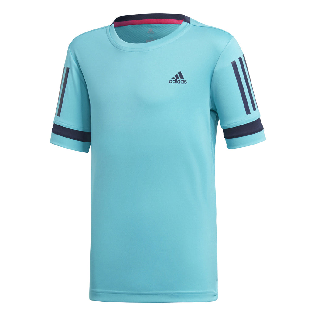 adidas Boys Club 3 Stripes Tennis T-Shirt