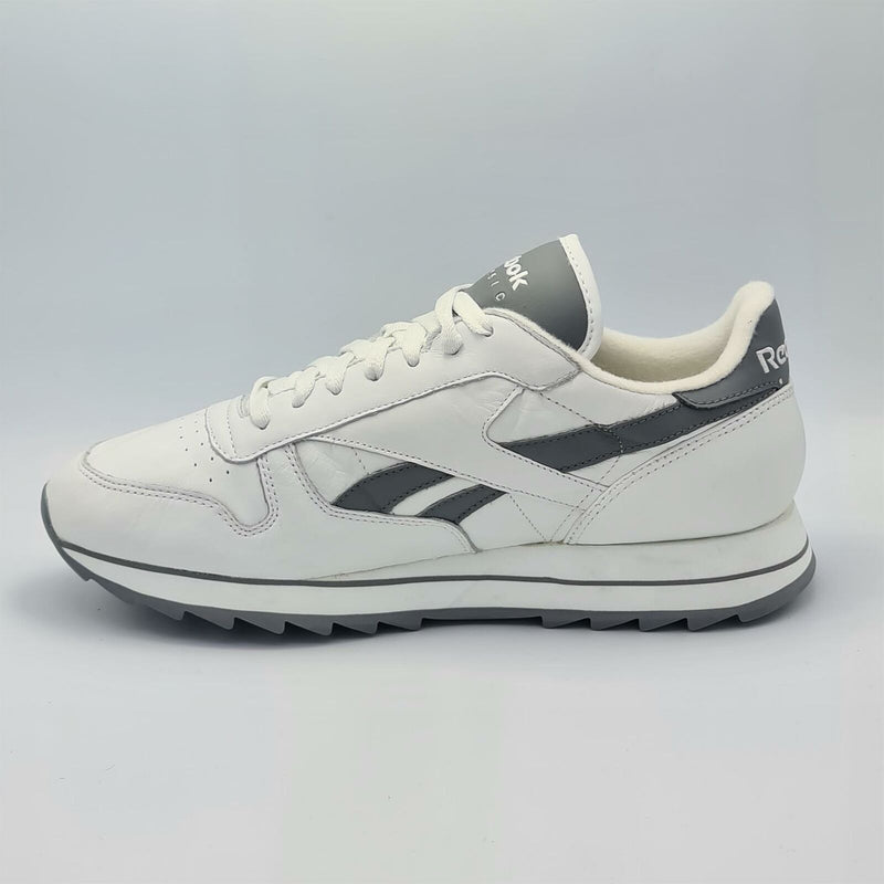Reebok Mens Classic Leather Retro Trainers - White/Grey - UK 8