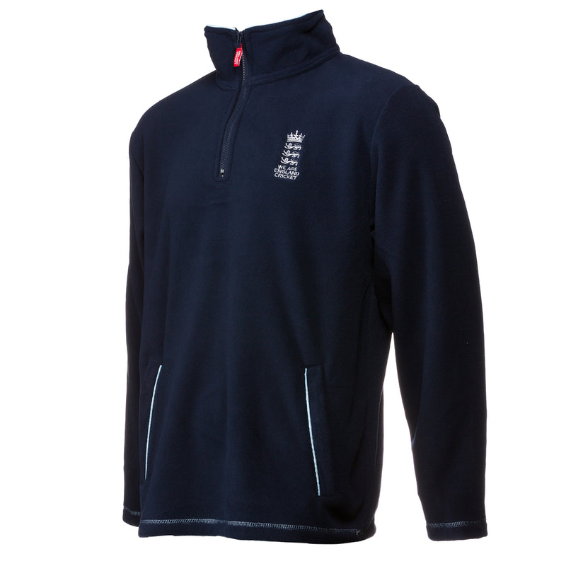 England Cricket ECB Mens 1/4 Zip Fleece