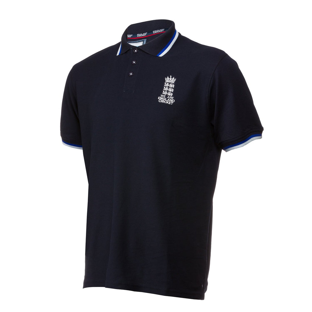 England Cricket ECB Mens Official Pique Polo