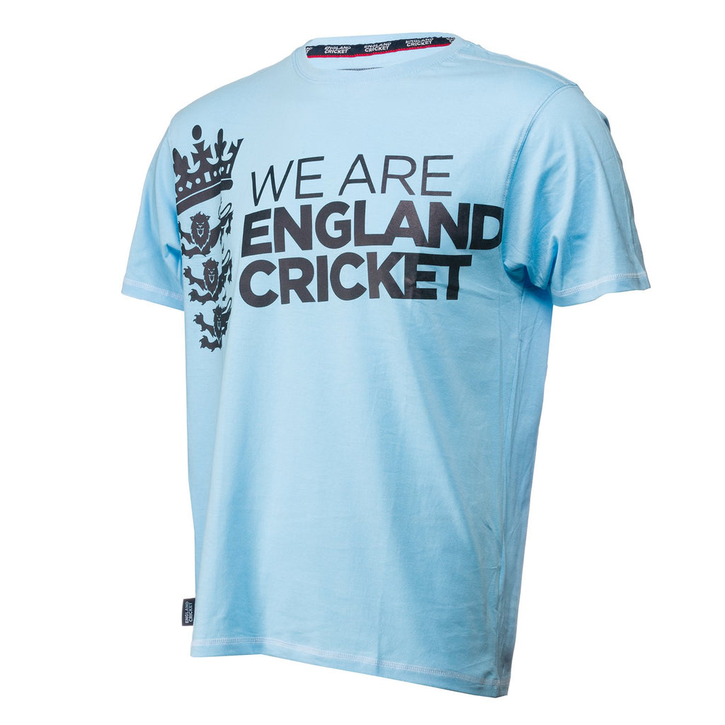 England Cricket ECB Mens We Are England Cricket Large Logo Tee