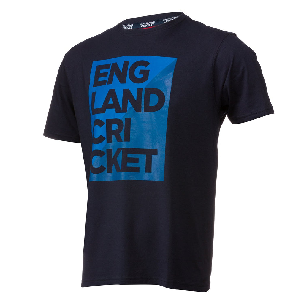 England Cricket ECB Mens Graphic Block T-Shirt
