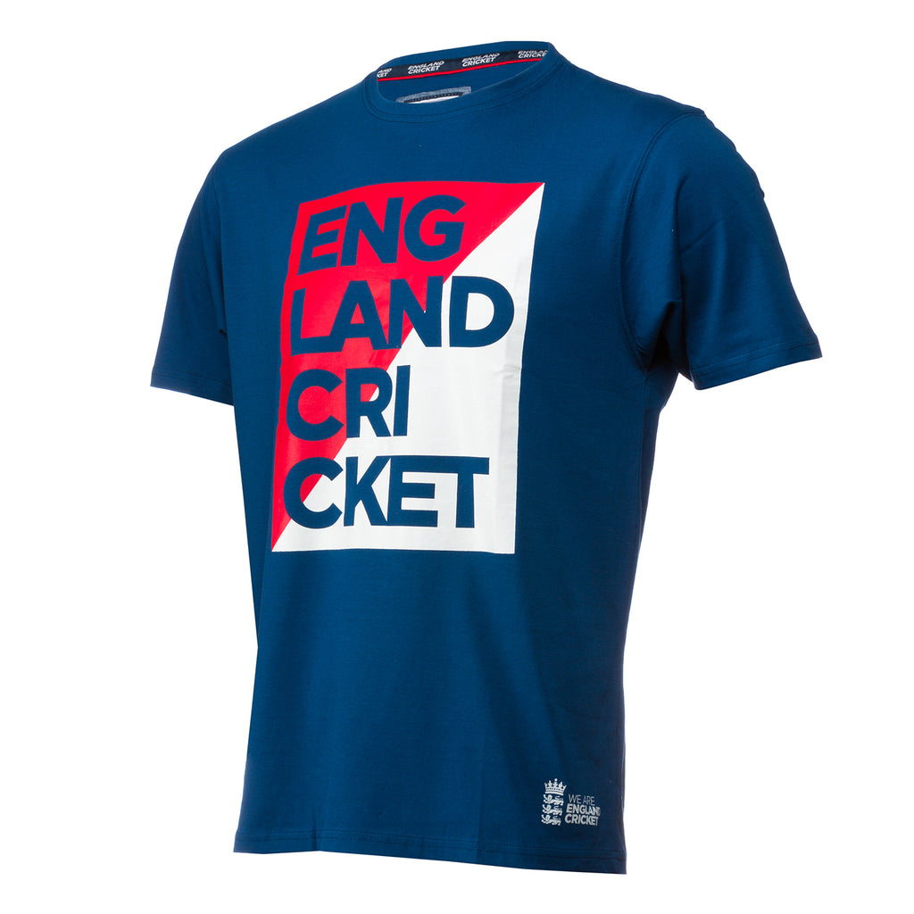 England Cricket ECB Mens Graphic Block Tee