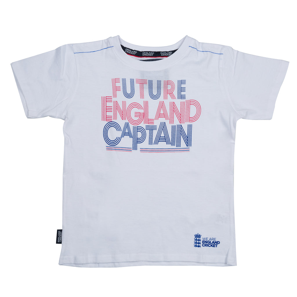 England Cricket ECB Kids Future England Captain Tee