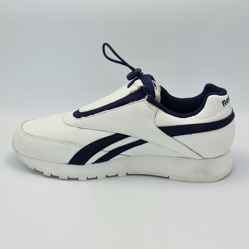 Reebok Mens Classic Chi Leather Slip In Trainers - White - UK 8