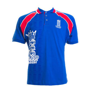 England Cricket Mens ECB Retro Raglan Polo Shirt