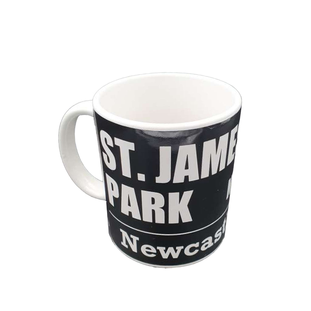 Newcastle United FC Black Street Sign Mug