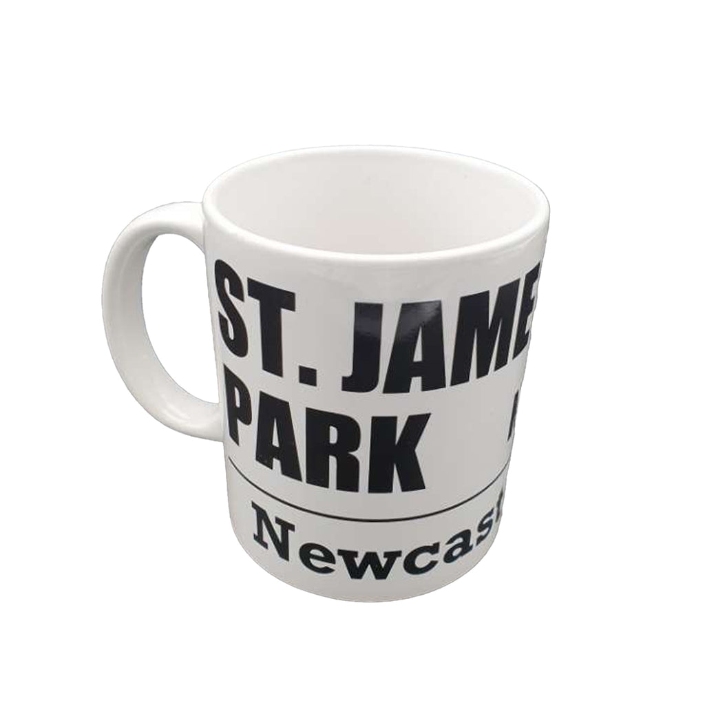 Newcastle United FC White Street Sign Mug