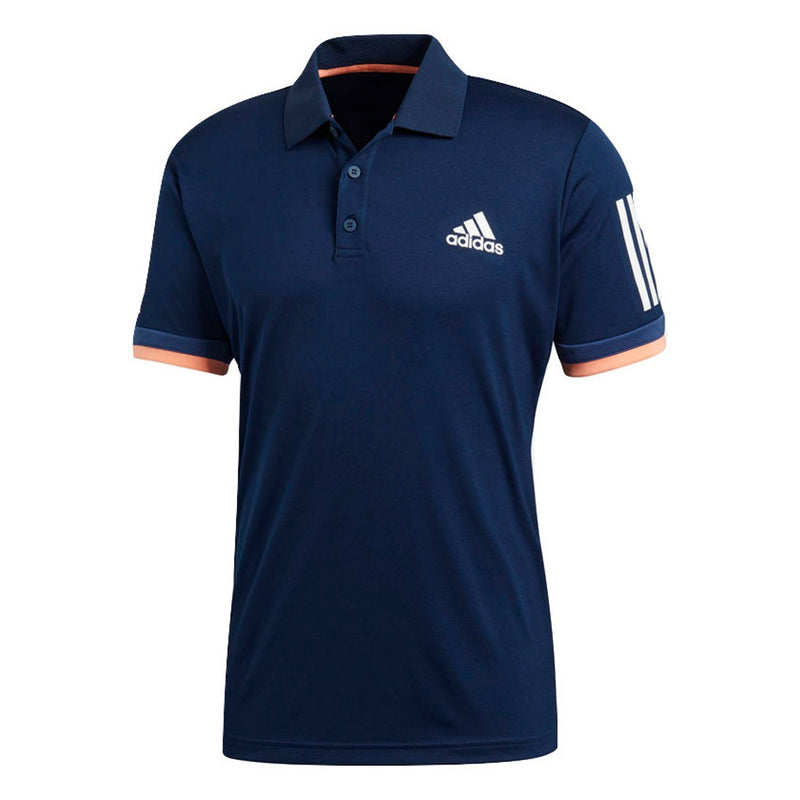 Adidas Men's 3 Stripes Club Tennis Polo Shirt