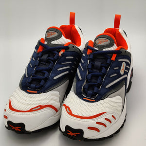 Reebok Womens Storm DMX Retro Trainers - Navy/White/Orange - UK 4.5