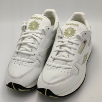 Reebok Womens Classic Leather Racer Retro Trainers - White/Gold - UK 4.5