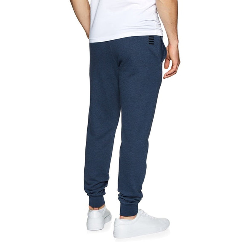 Emporio Armani EA7 Mens 3HPP82 Cotton Poly Tracksuit Bottoms - Blue Melange
