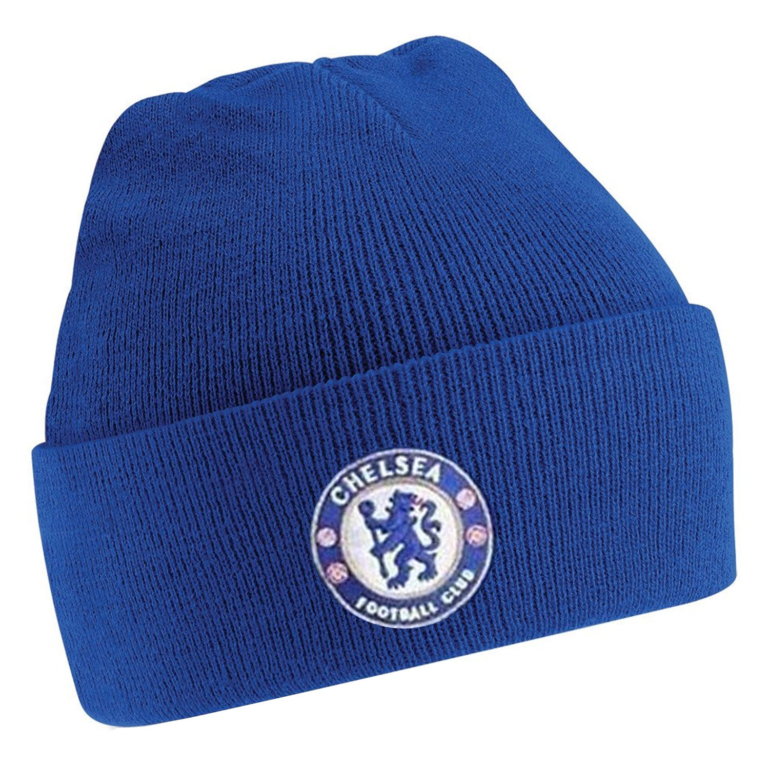 f6607e9d617 Chelsea FC Unisex Official Cuff Knitted Beanie Hat