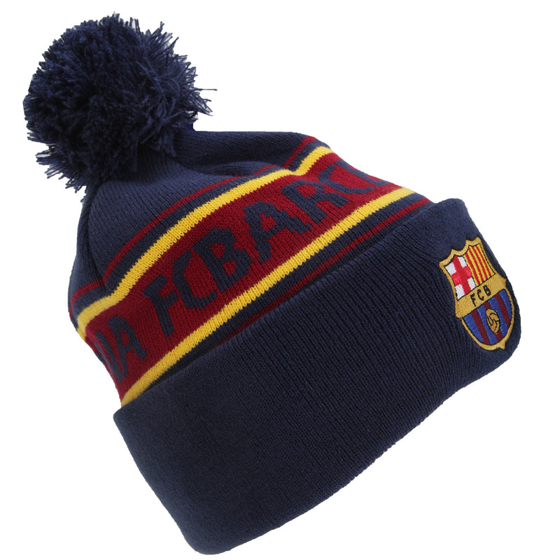 F.C. Barcelona Unisex Official Cuff Knitted Text Beanie Hat