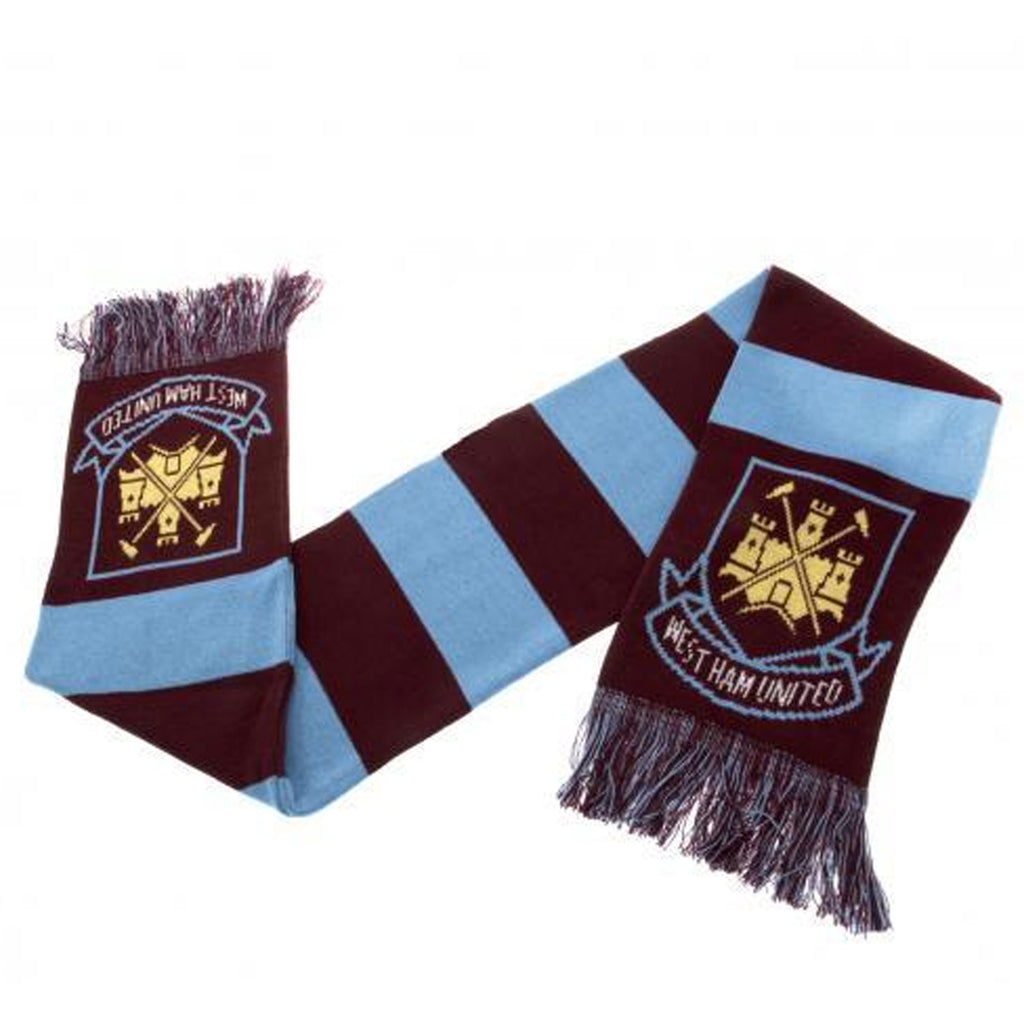 West Ham United Official Crest Bar Scarf