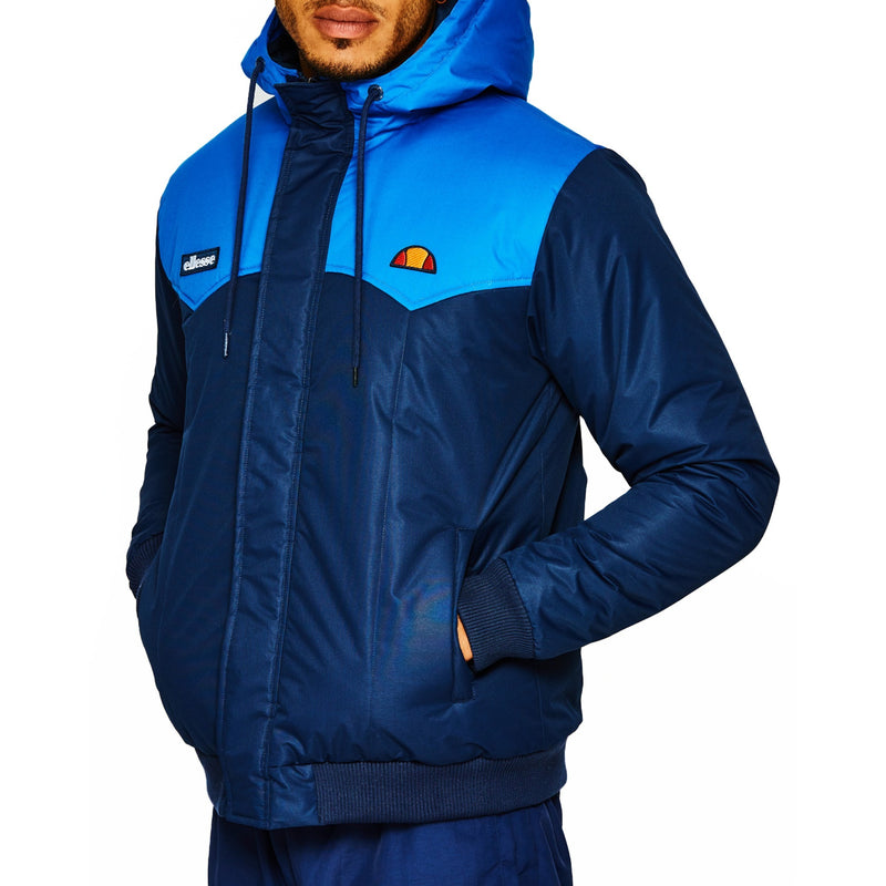 Ellesse Mens Fanchini Full Zip Hooded Padded Jacket